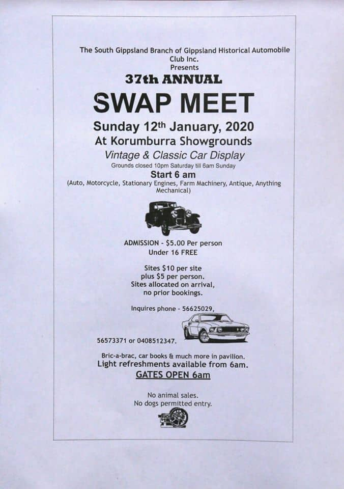 2020 swap meet flyer