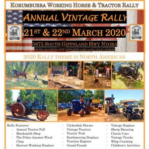 2020 working horse and tractor rally