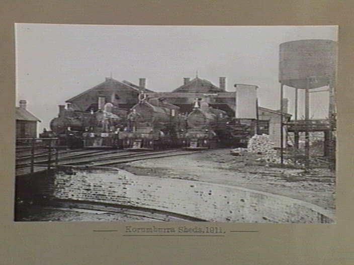 Korumburra Railway Sheds 1911