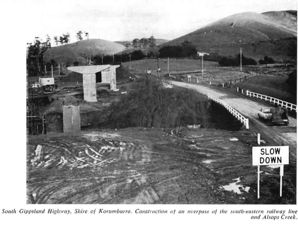 Roadworks Korumburra Overpass 1970-72