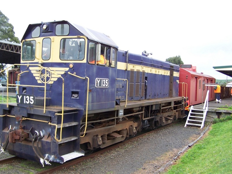 Korumburra Railway - diesel y-class engine