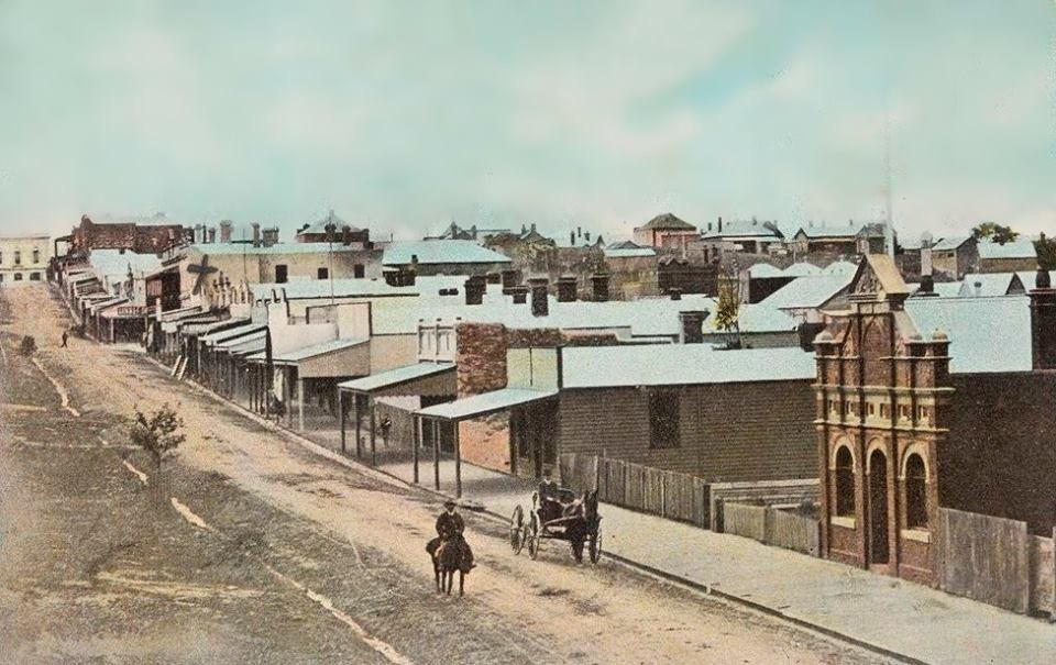 Korumburra Commercial St, 1910