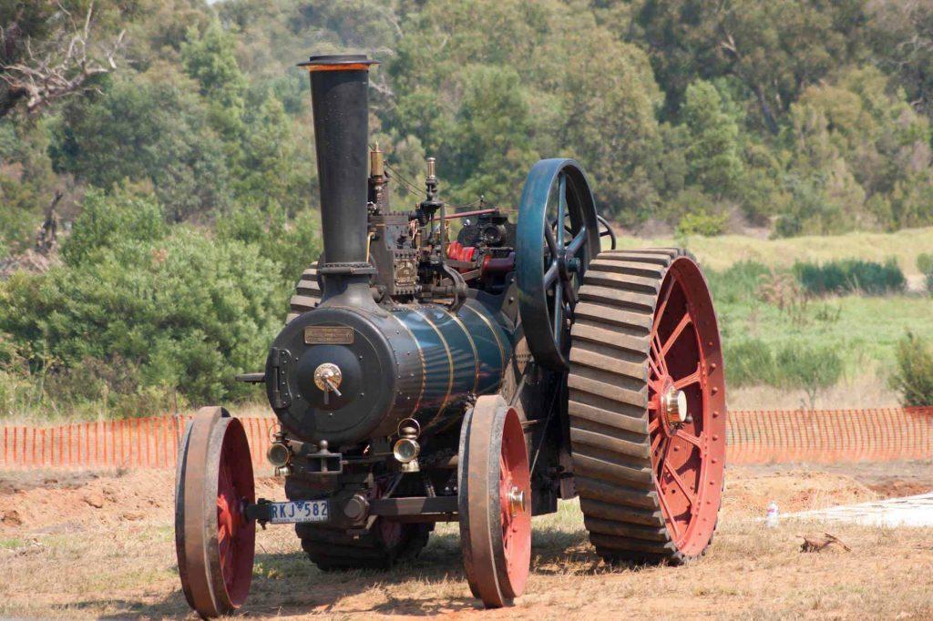 vintage steam tractor